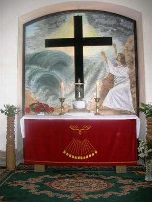 Mihályi - új oltárkép - 2010. pünkösd - small